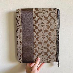 Coach Brown Classic iPad Cover Case